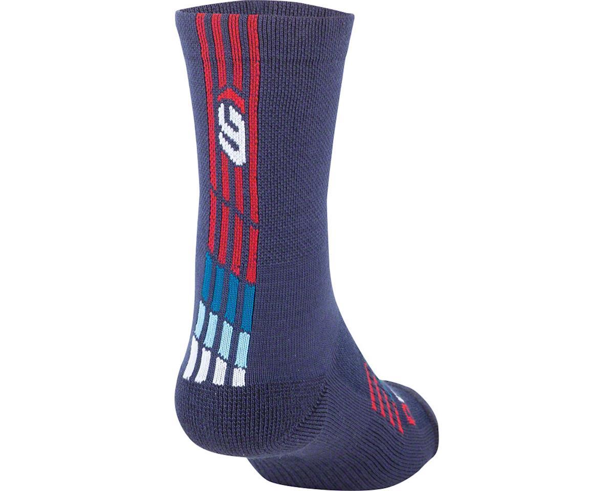 Image 2 for Louis Garneau Merino 30 Socks (Blue/Red)