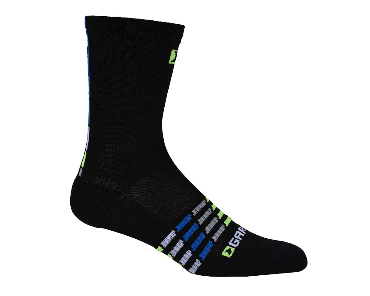 Louis Garneau Merino 30 Cycling Socks (Black/Blue) (L/XL)
