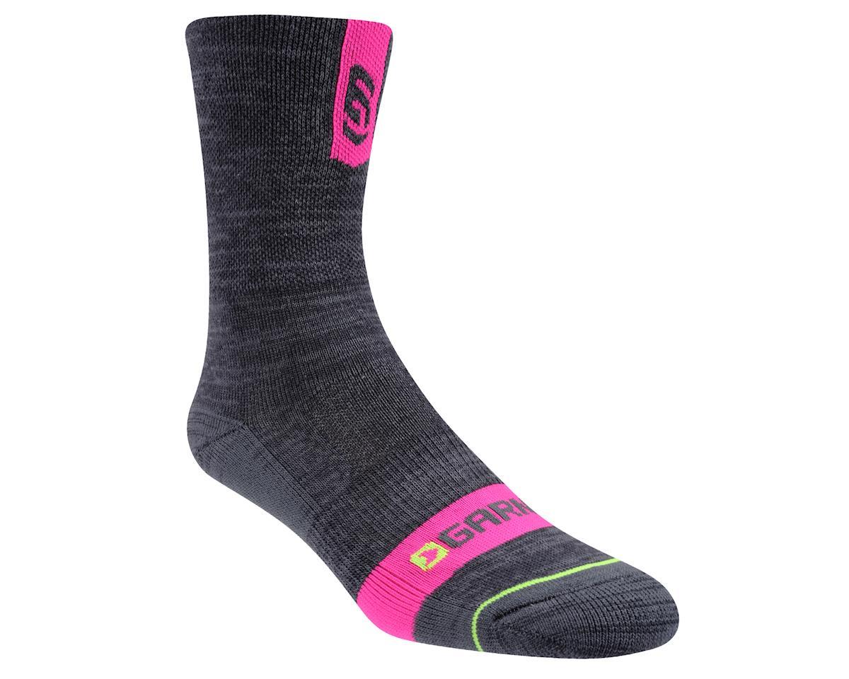Louis Garneau Women's Merino Prima Socks (Grey/Pink) (L/Xl) (L/XL)