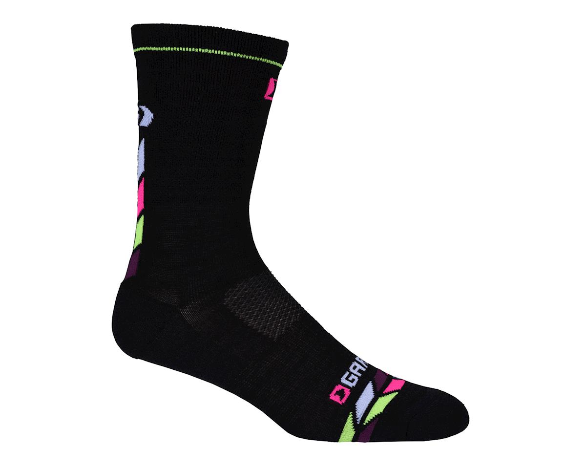 Louis Garneau Women's Merino 30 Cycling Socks (Black/Pink/Purple)