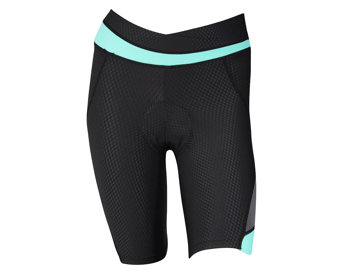 Louis Garneau Women's CB Carbon 2 Shorts (Black/Aqua)