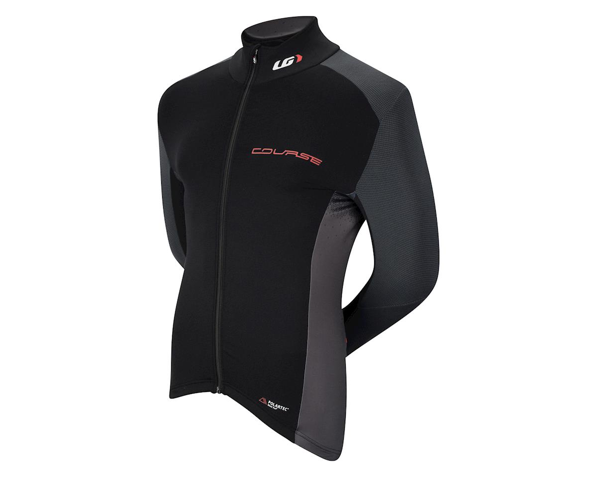 Image 1 for Louis Garneau Course Wind Pro Long Sleeve Jersey (Black/Red)