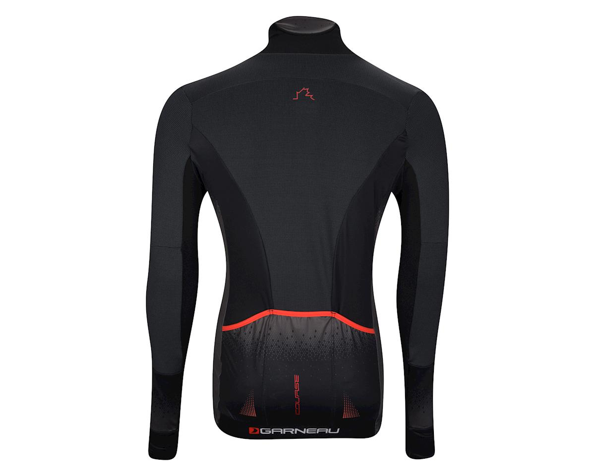 Image 2 for Louis Garneau Course Wind Pro Long Sleeve Jersey (Black/Red)