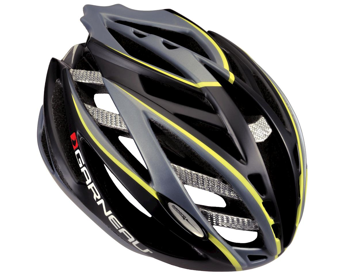 "Louis Garneau Diamond II Road Helmet (Black/Yellow) (Small 20.5-22"")"