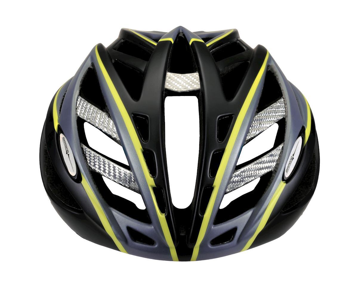 "Image 4 for Louis Garneau Diamond II Road Helmet (Black/Yellow) (Small 20.5-22"")"