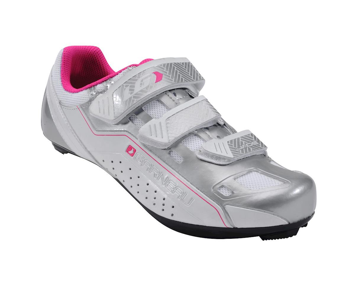 Louis Garneau Women's Jade Shoe (White/Silver/Pink) (38)