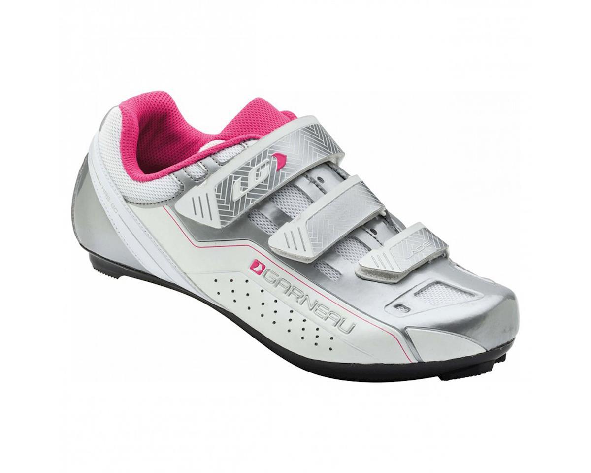 Louis Garneau Women's Jade Shoe (White/Silver/Pink) (41)