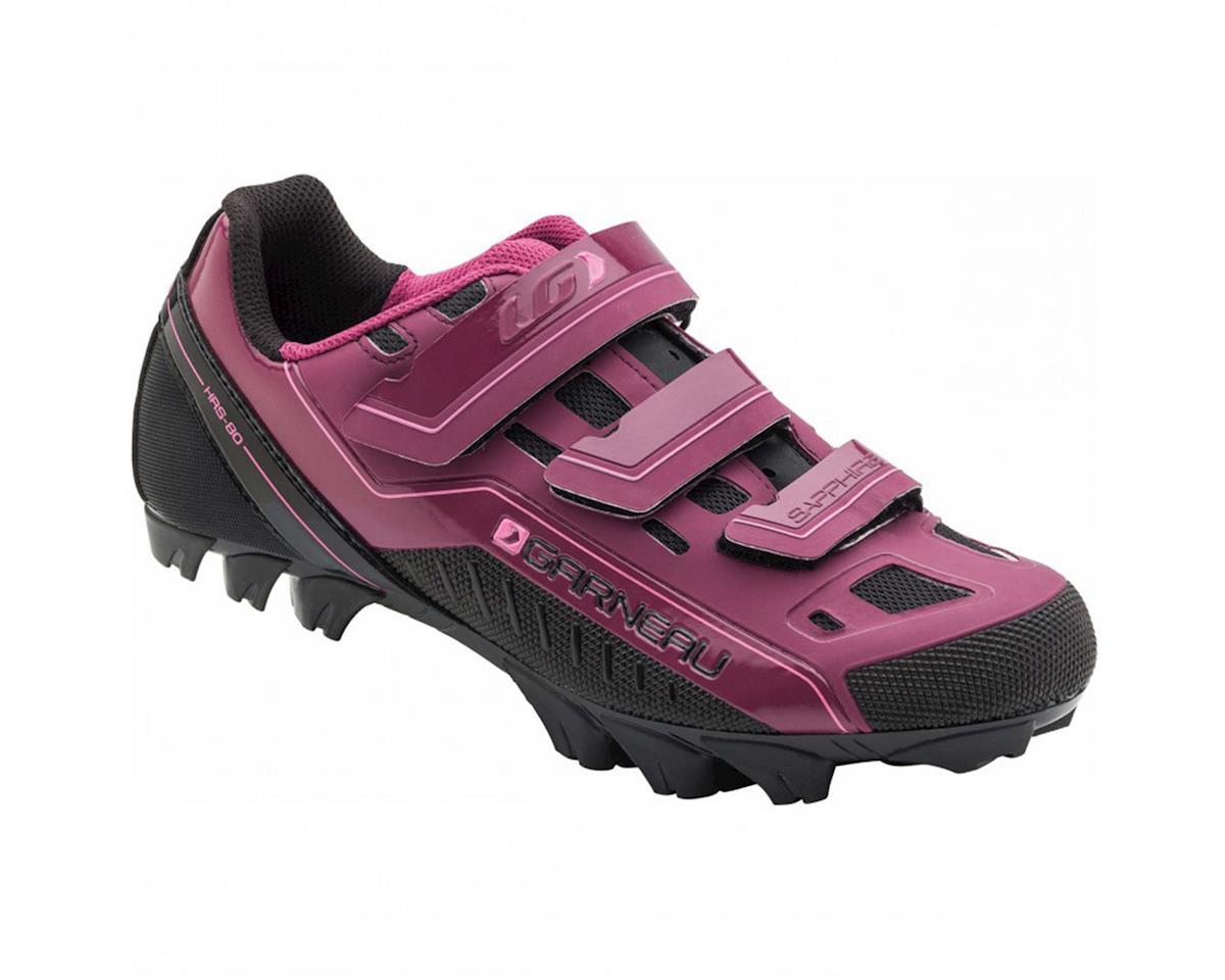 Louis Garneau Women's Sapphire  Mountain Bike Shoes (Magenta Purple) (37)