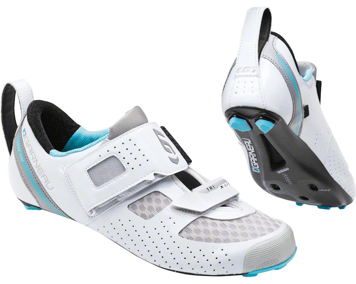 Louis Garneau Tri X-Lite II Women's Shoe: White/Blue Fish 40