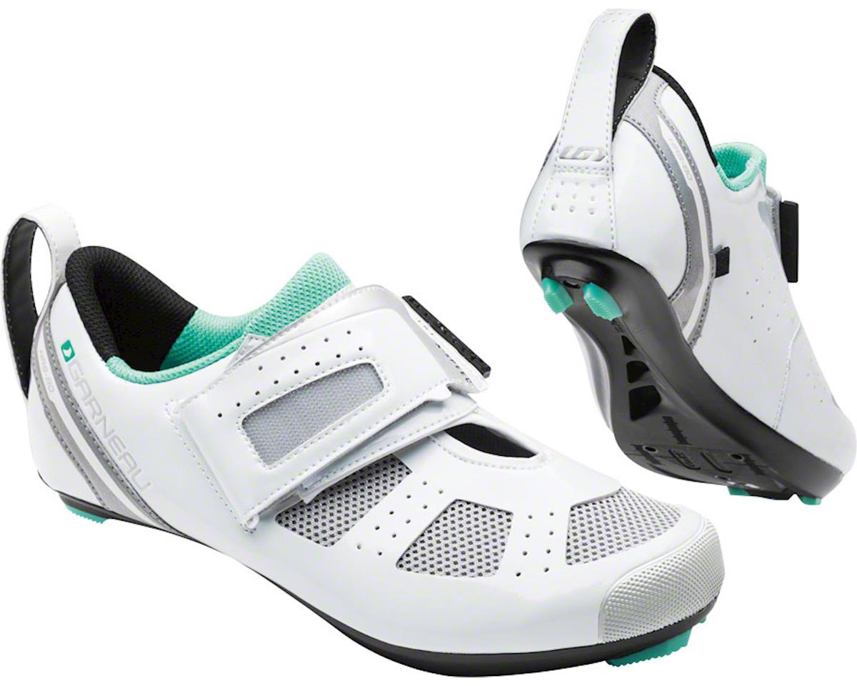 Louis Garneau Women's Tri X-Speed III Shoe (White/Mojito) (36)