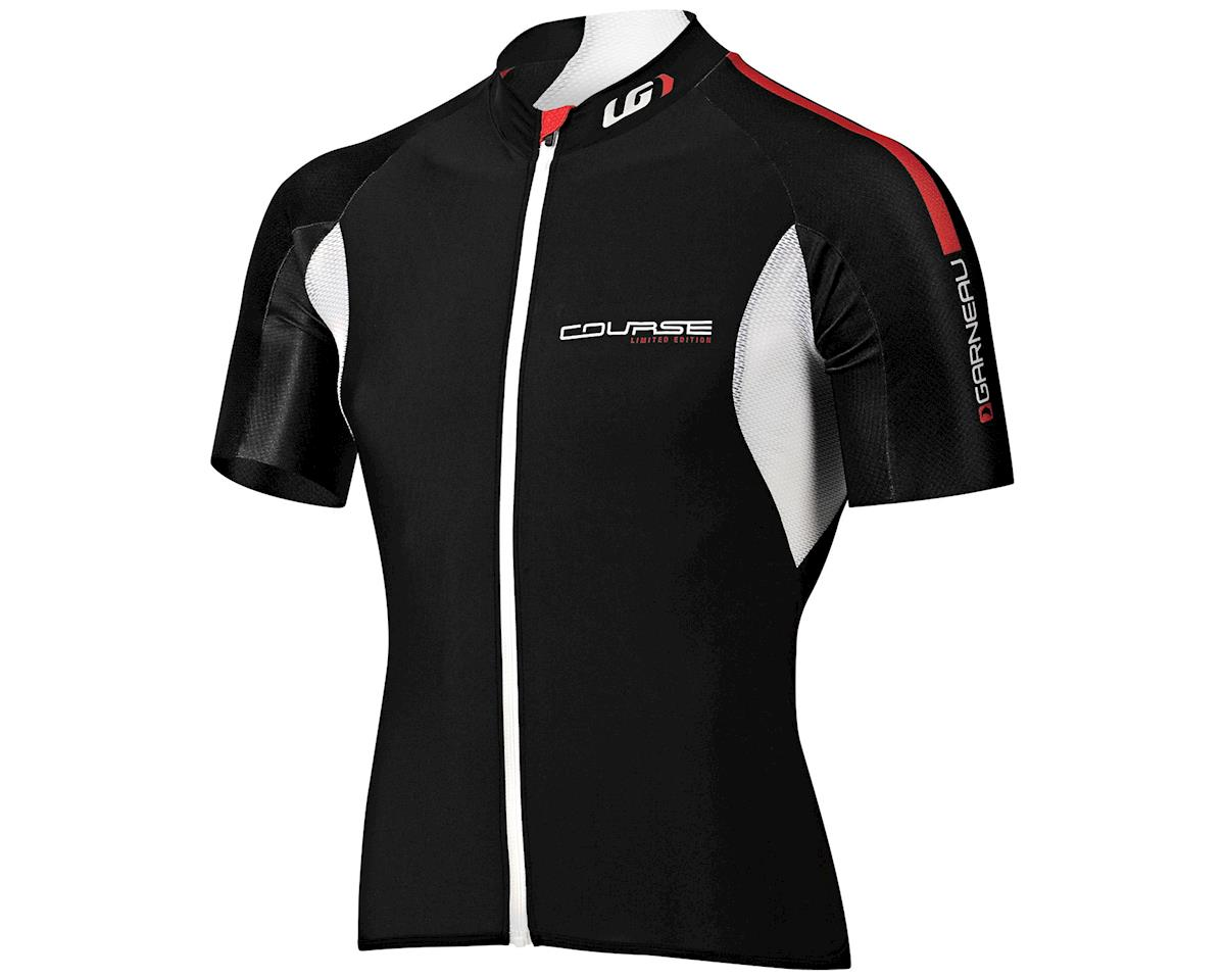 Louis Garneau Course Race Short Sleeve Jersey (Black)
