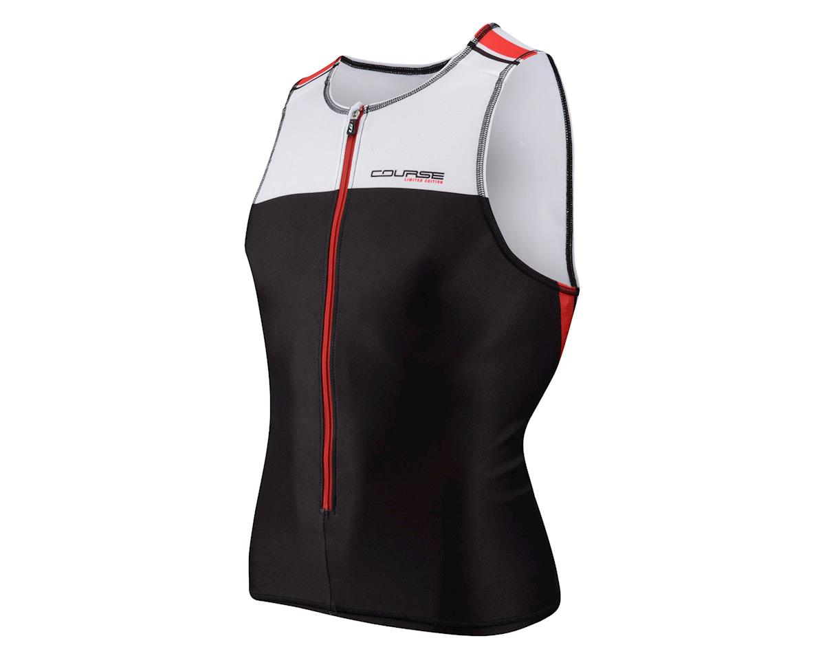 Image 1 for Louis Garneau Tri Elite Course Sleeveless Triathlon Jersey (Black/White) (Xxlarge)