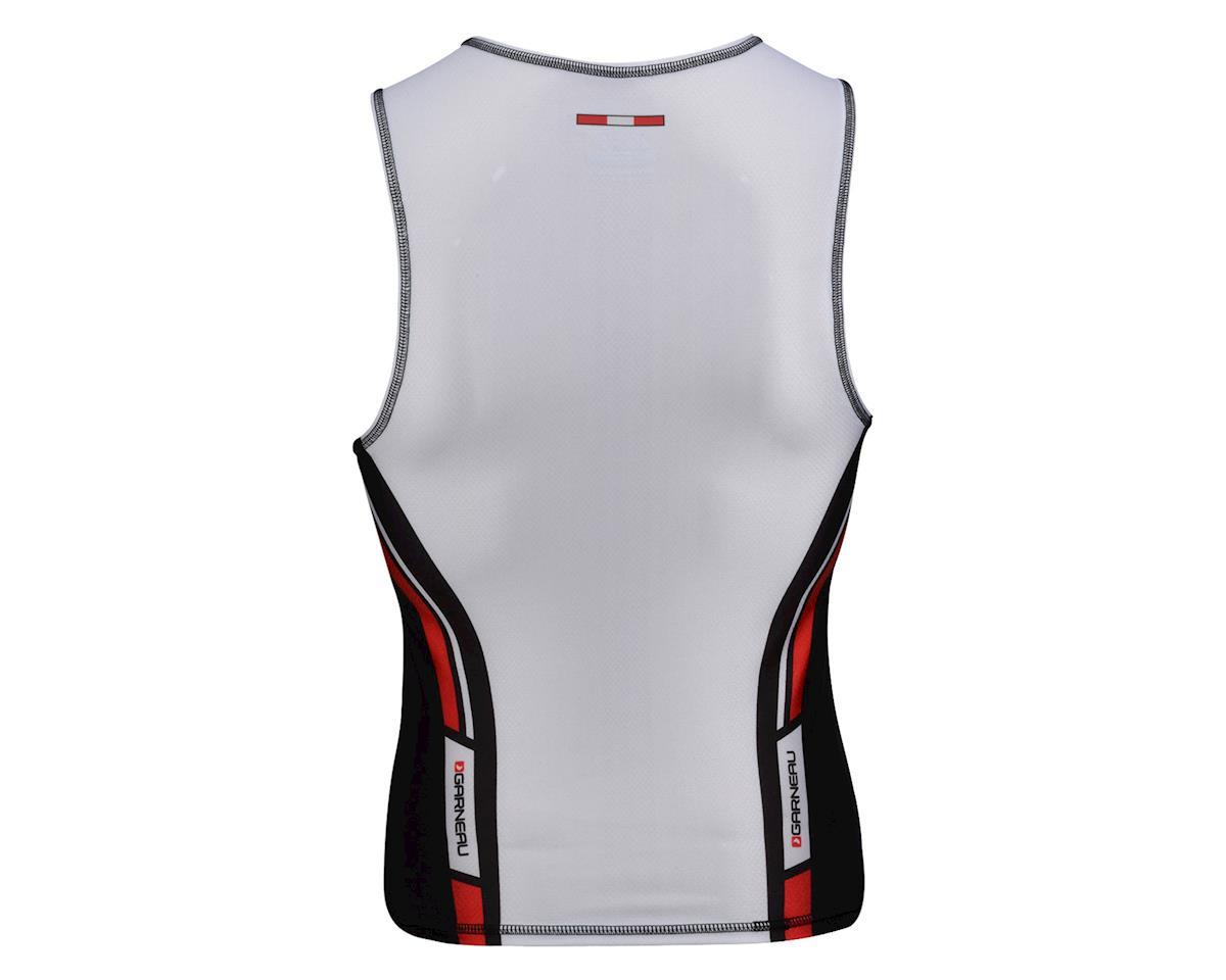 Image 2 for Louis Garneau Tri Elite Course Sleeveless Triathlon Jersey (Black/White) (Xxlarge)