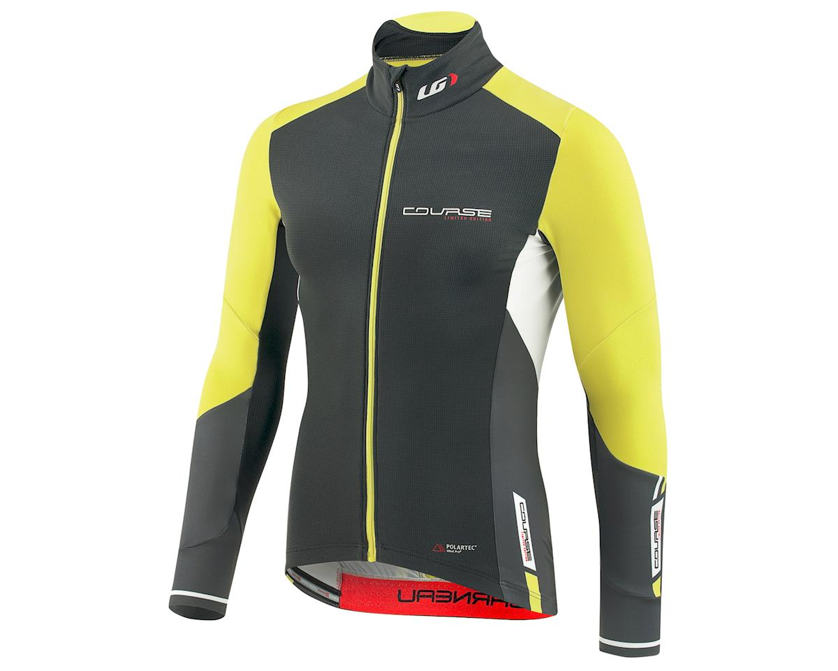 Louis Garneau Course WindPro Long Sleeve Cycling Jersey (Iron Gray/Sulphur) (S)