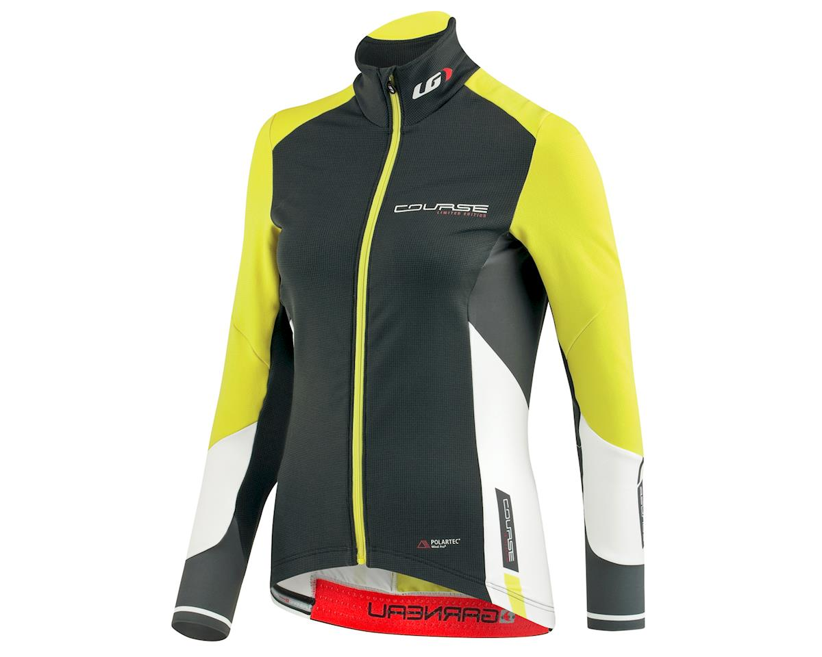 Louis Garneau Women's Course WindPro Long Sleeve Cycling Jersey (Gray/Sulphur)