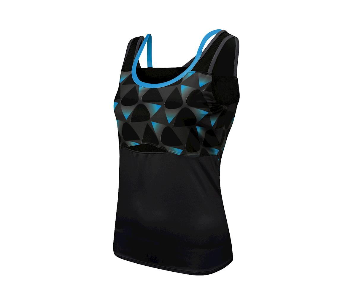 Louis Garneau Shape Sens Women's Tank: Black/Atomic Blue SM