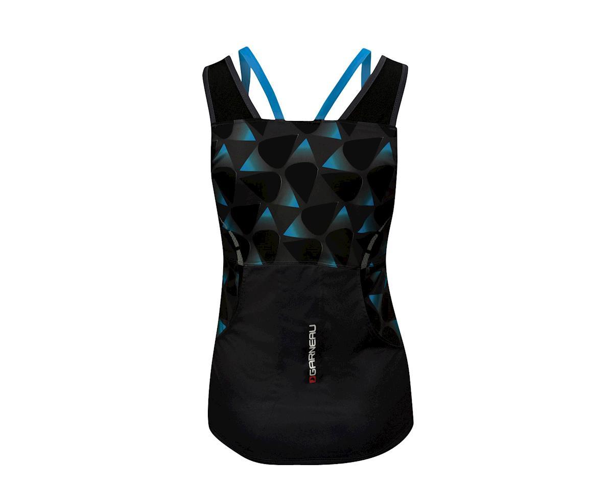 Image 2 for Louis Garneau Women's Shape Sens Tank Jersey (Iron Gray/Atomic Blue)