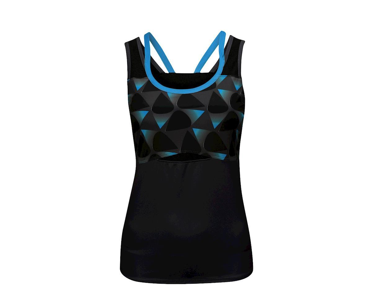 Image 3 for Louis Garneau Women's Shape Sens Tank Jersey (Iron Gray/Atomic Blue)