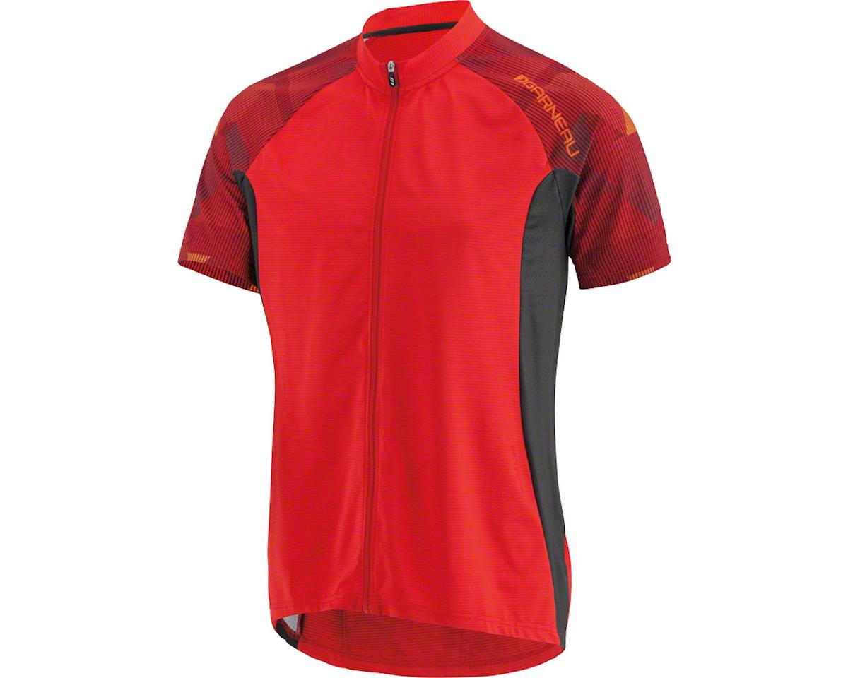 Louis Garneau Maple Lane Men's Jersey: Flame Red/Sunset Orange XL