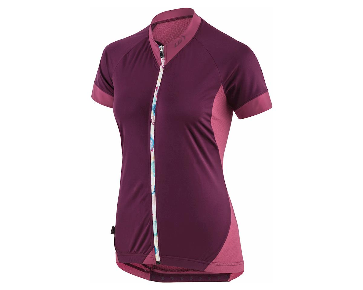 Louis Garneau Women's Art Factory Zircon Jersey (Shiraz Flower)