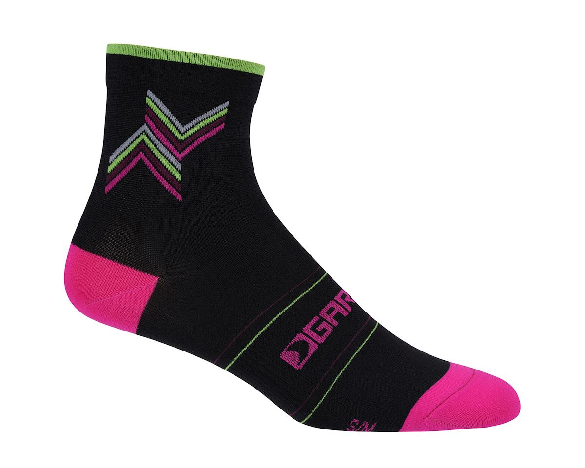 Louis Garneau Women's Tuscan Socks (Black/Pink) (L/Xl) (L/XL)