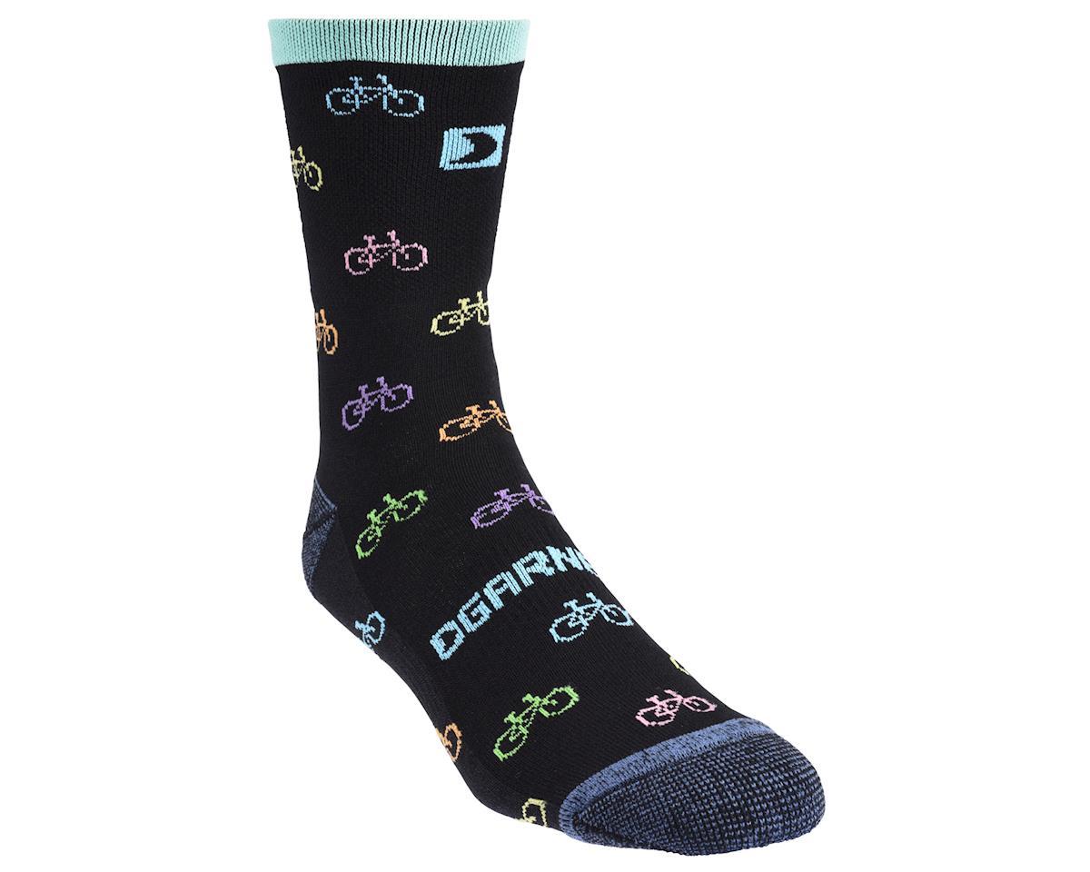 Image 2 for Louis Garneau Bike Print Merino 60 Socks (Gray/Black/Pastel)