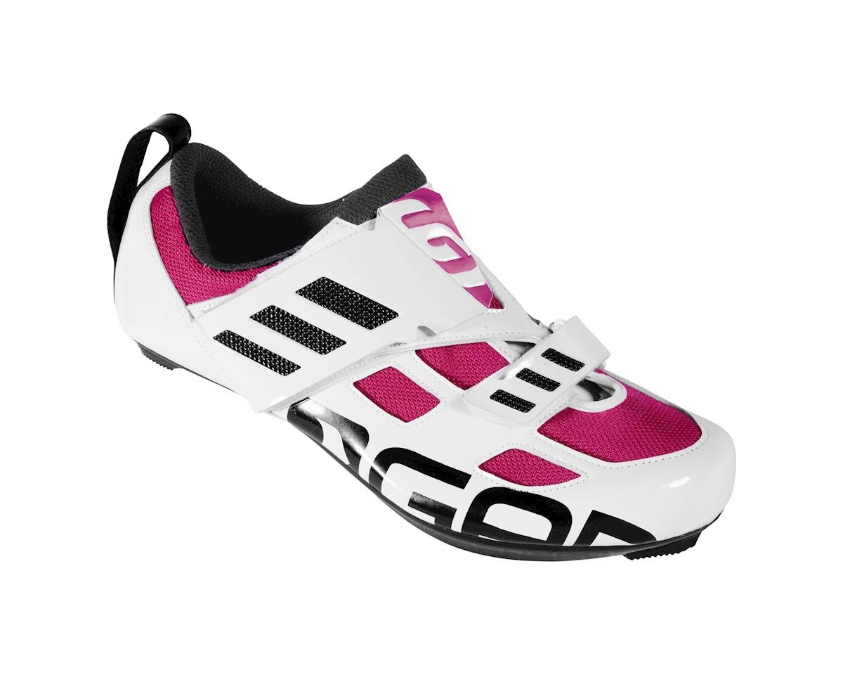 Louis Garneau Women's Tri Evo Triathlon Shoes - Performance Exclusive (White/Magenta) (43)