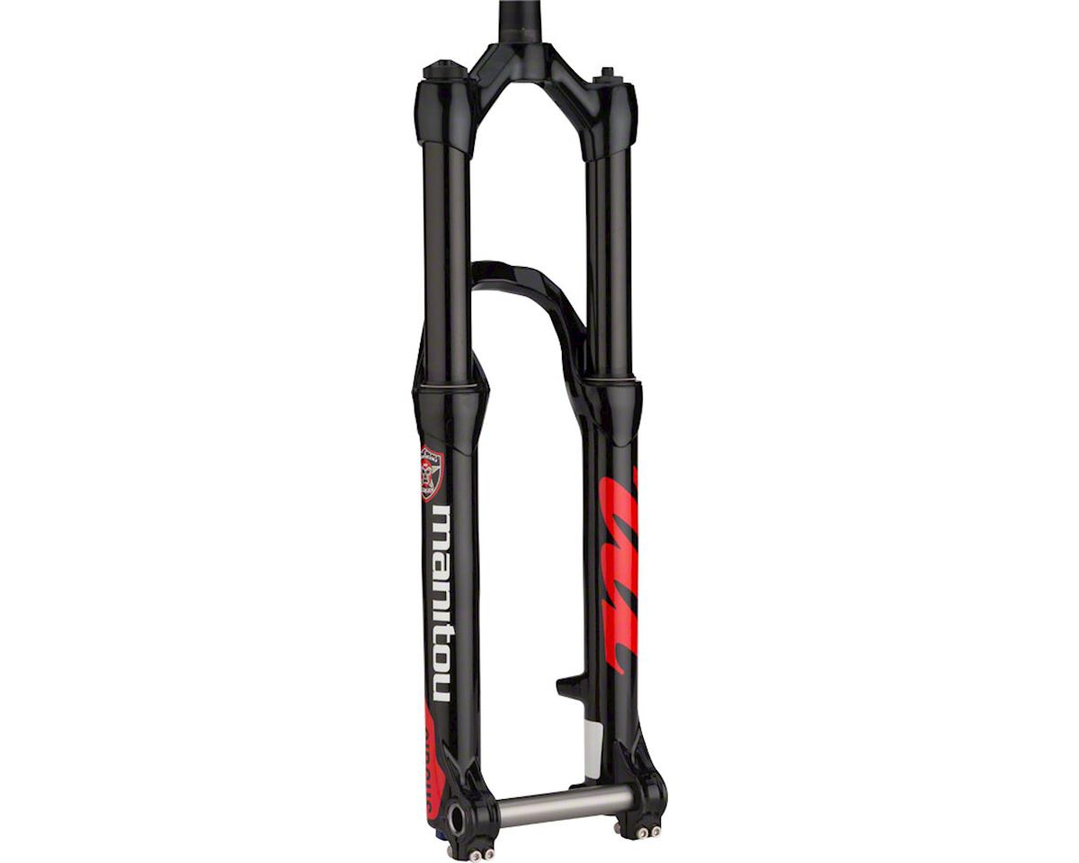 "Manitou Circus Expert Dirt Jump Fork 26"" 130mm Straight Steerer 20mm Hexlock, Bl"