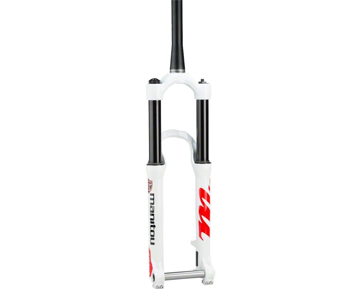 "Manitou Circus Expert Dirt Jump Fork 26"" 130mm Tapered Steerer 20mm Hexlock, Whi"