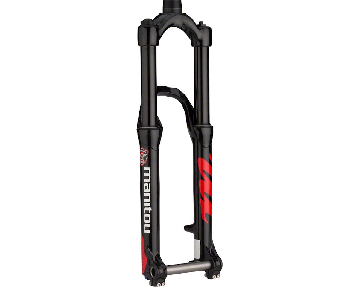 "Manitou Circus Expert Dirt Jump Fork 26"" 130mm Tapered Steerer 20mm Hexlock, Bla"