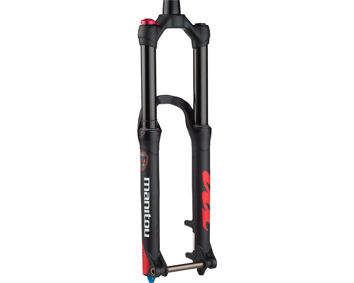 "Manitou Mattoc Comp Fork 27.5"" 160mm Travel, Tapered Steerer, 15mm Axle, Matte B"