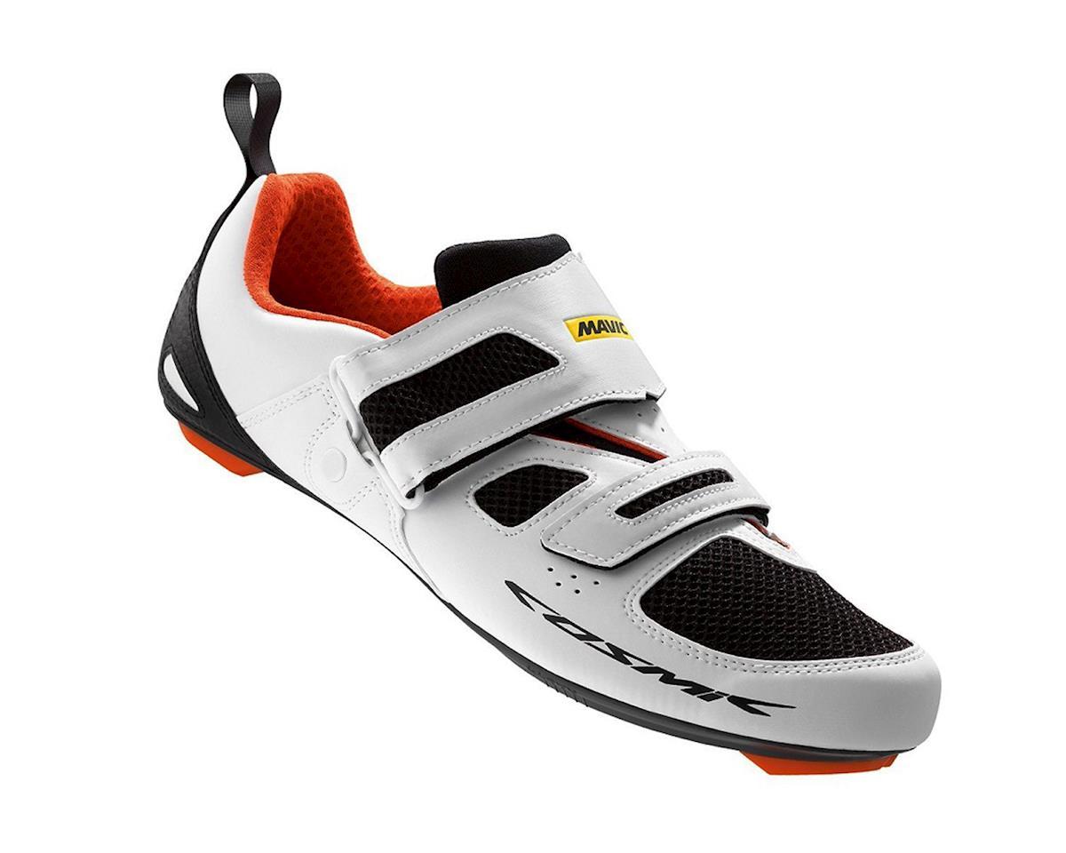 Mavic Cosmic Elite Tri Shoes (White/Black/Orange) (9.5 Uk (Us 10))