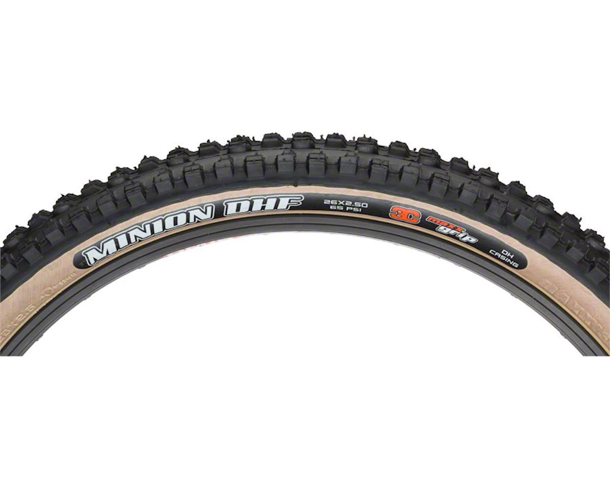 Maxxis Minion DHF MaxxGrip MTB Tire (Skinwall) (26 x 2.50)