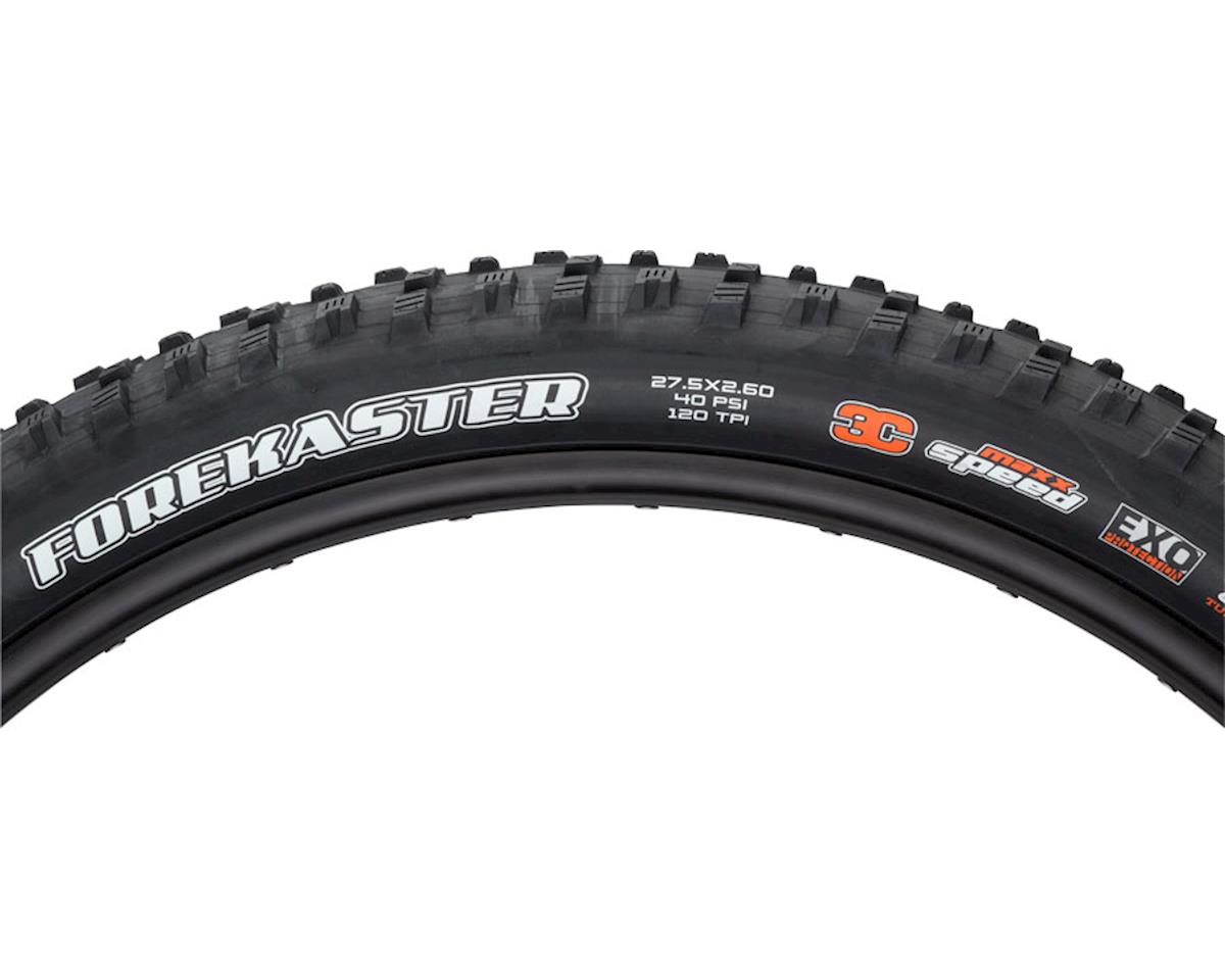 "Maxxis Forekaster 27.5 x 2.60"" Tire: 120tpi, Triple Compound, EXO Casing, Tubele"