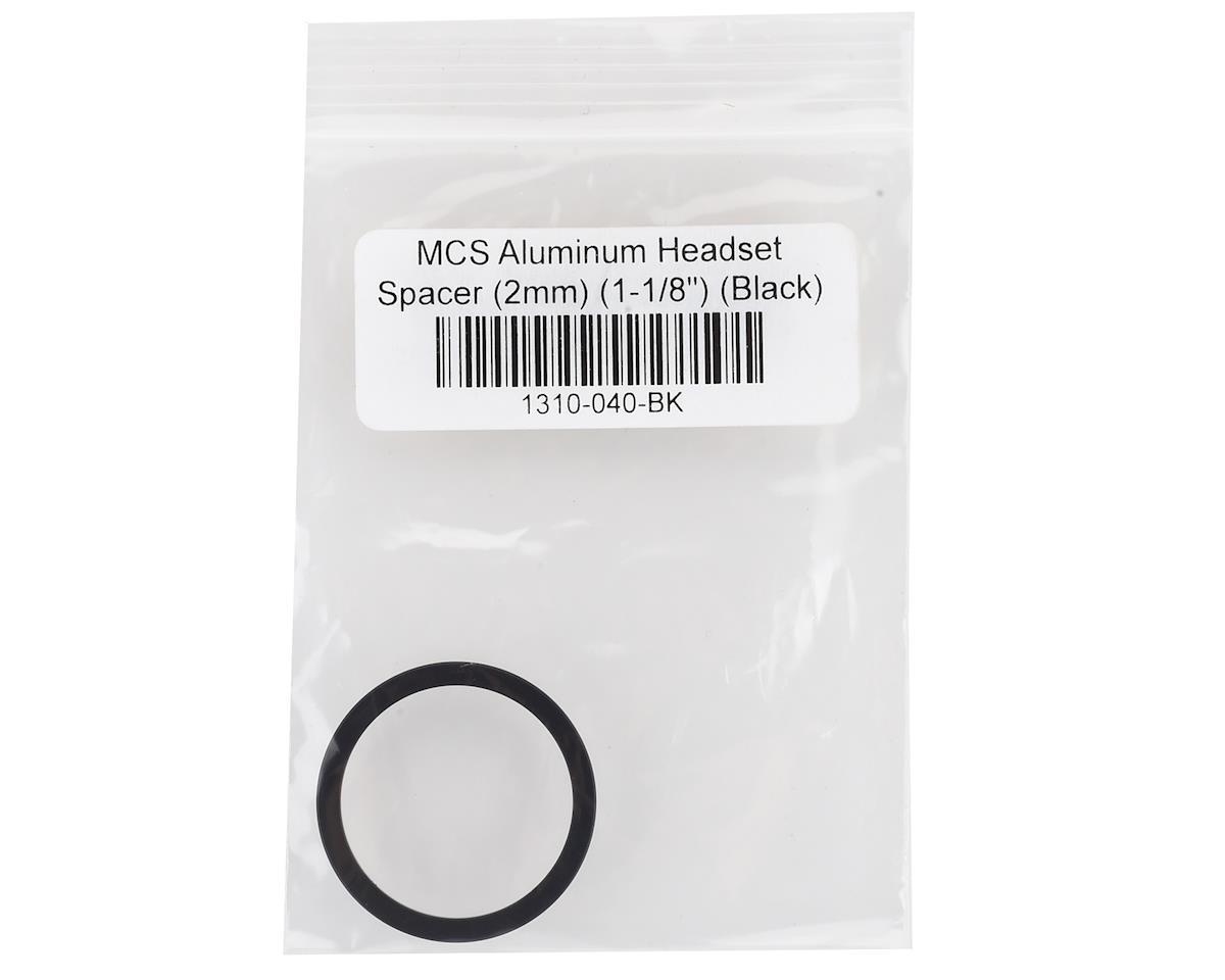 "Image 2 for MCS Aluminum Headset Spacer (1-1/8"") (Black) (2mm)"