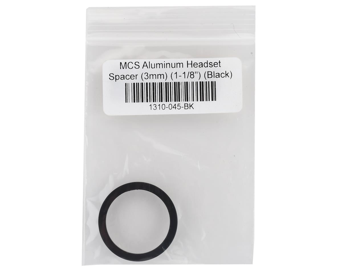 "Image 2 for MCS Aluminum Headset Spacer (1-1/8"") (Black) (3mm)"