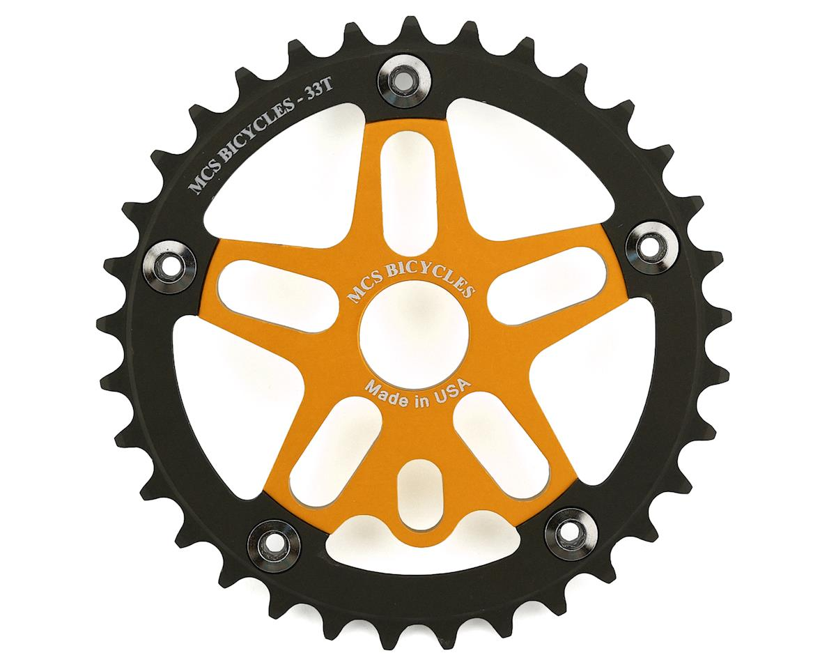 MCS Alloy Spider & Chainring Combo (33T) (Gold/Black)