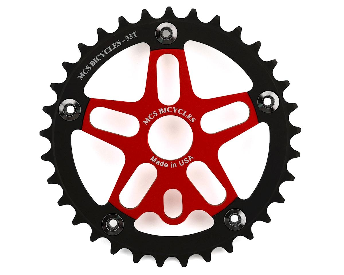 MCS Alloy Spider & Chainring Combo (33T) (Red/Black)