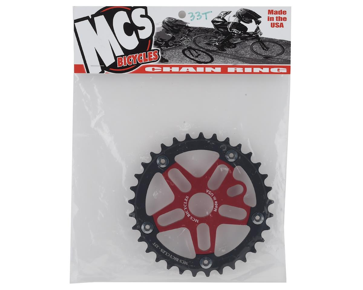 Image 2 for MCS Alloy Spider & Chainring Combo (33T) (Red/Black)