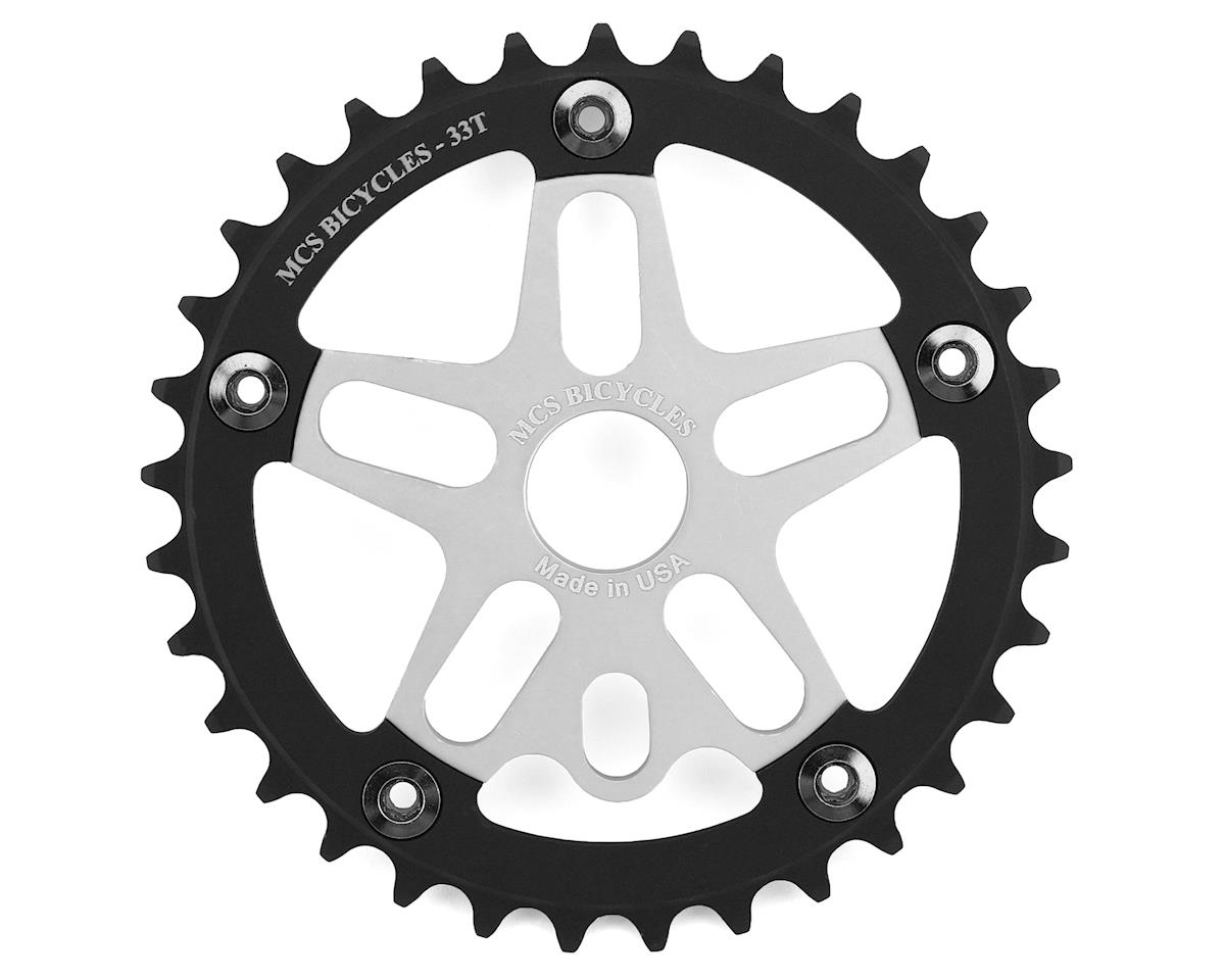 Image 1 for MCS Alloy Spider & Chainring Combo (33T) (Silver/Black)