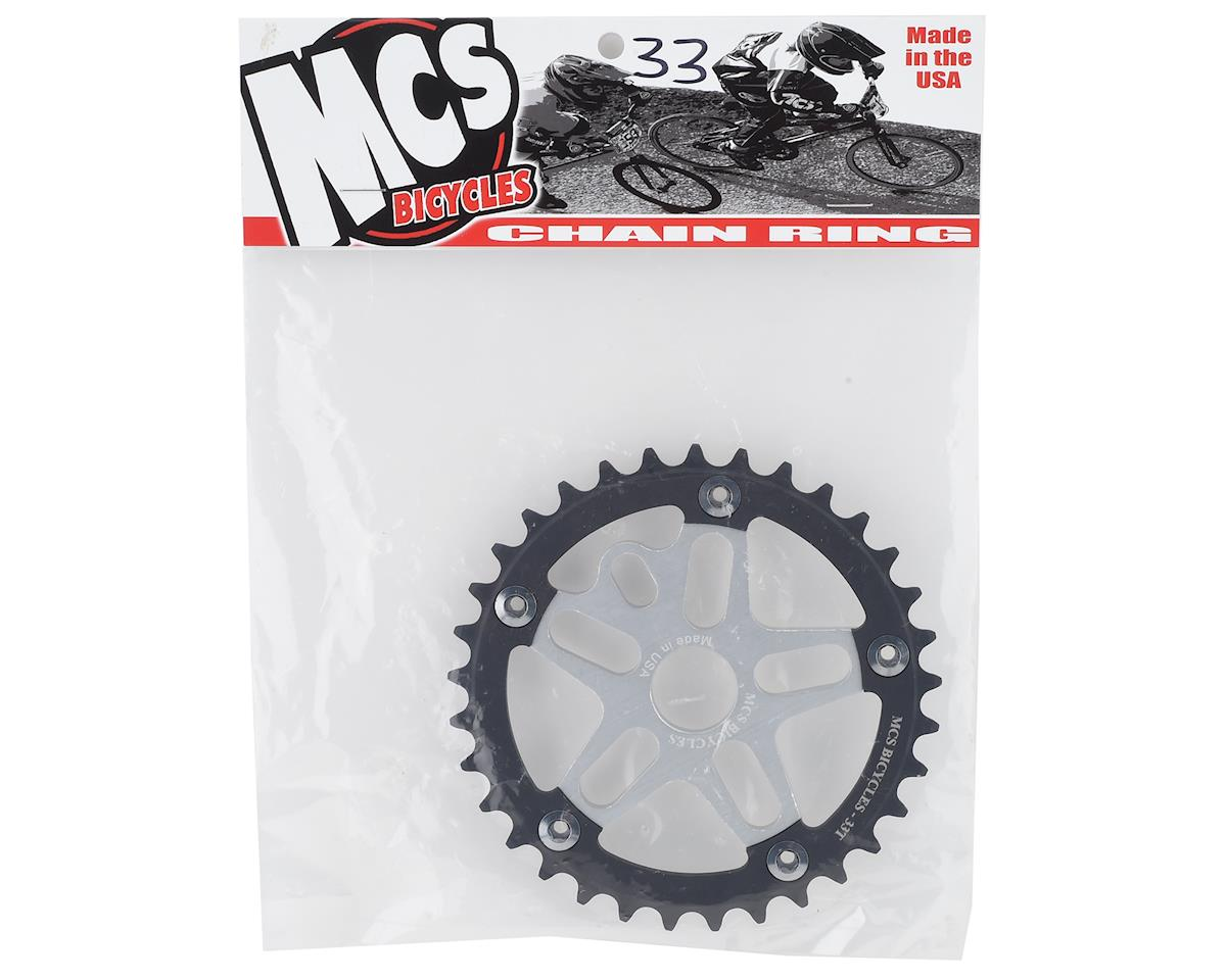 Image 2 for MCS Alloy Spider & Chainring Combo (33T) (Silver/Black)