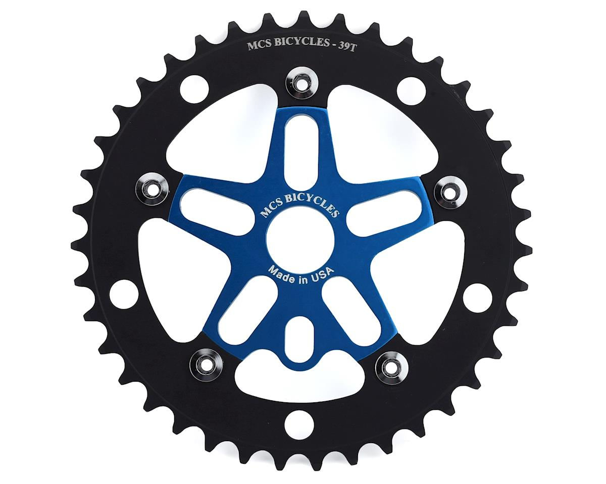 Image 1 for MCS Alloy Spider & Chainring Combo (39T) (Blue/Black)