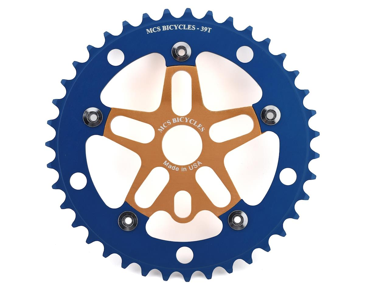 MCS Alloy Spider & Chainring Combo (39T) (Gold/Blue)