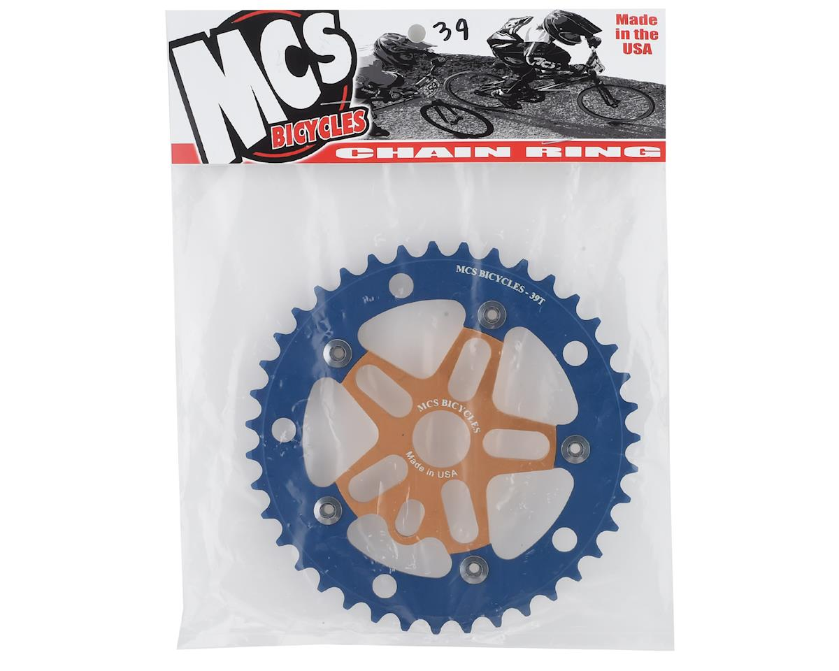 Image 2 for MCS Alloy Spider & Chainring Combo (39T) (Gold/Blue)