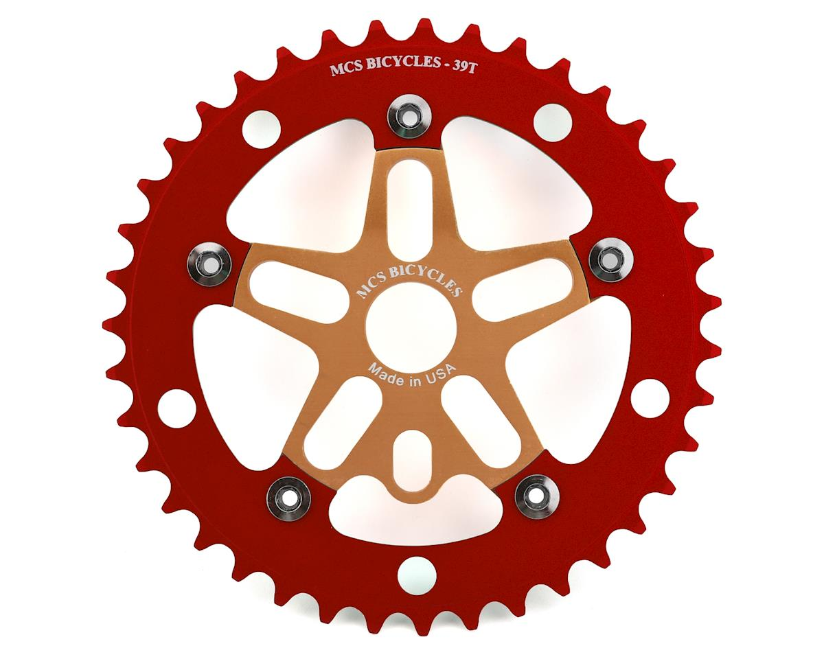MCS Alloy Spider & Chainring Combo (39T) (Gold/Red)