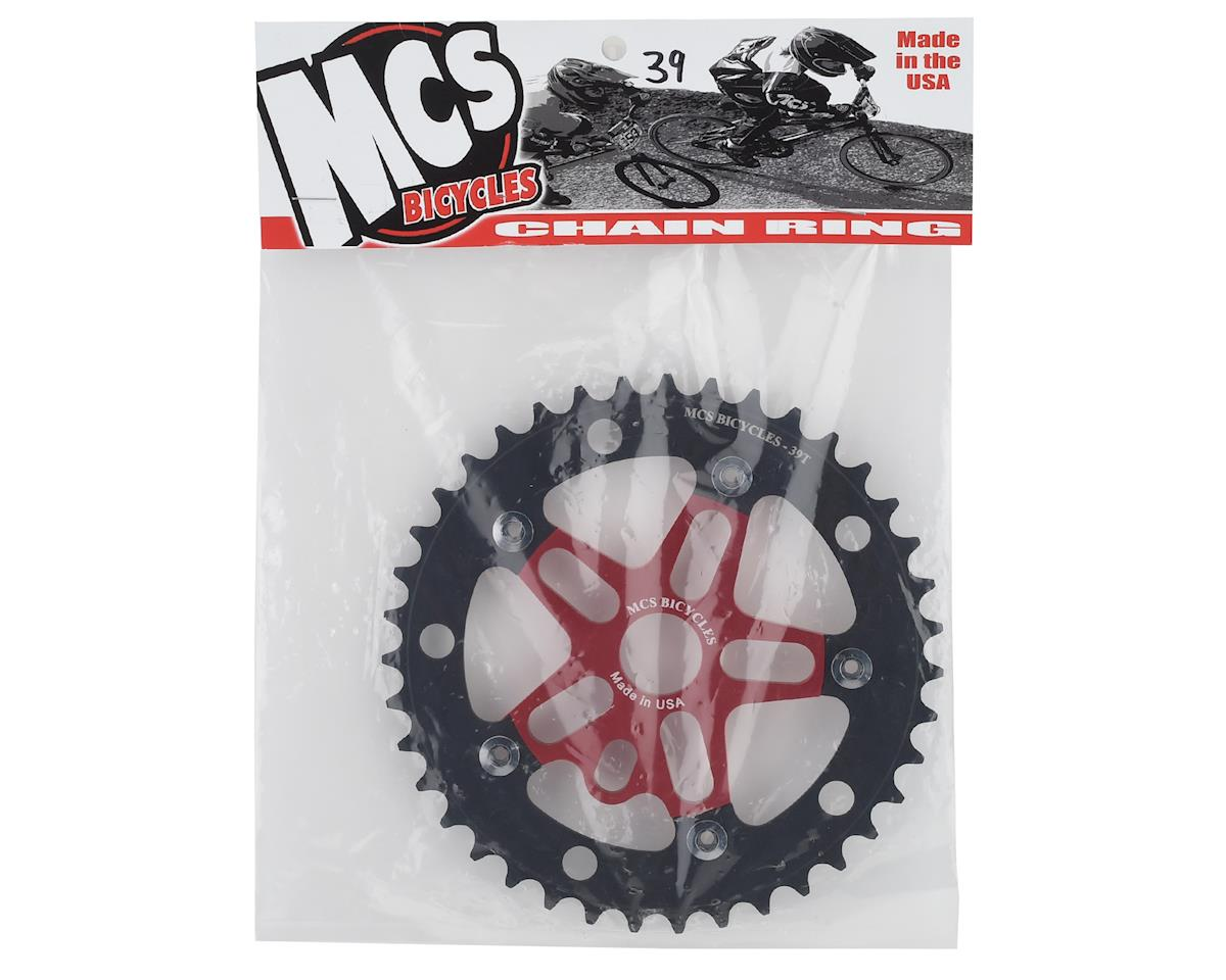 Image 2 for MCS Alloy Spider & Chainring Combo (39T) (Red/Black)