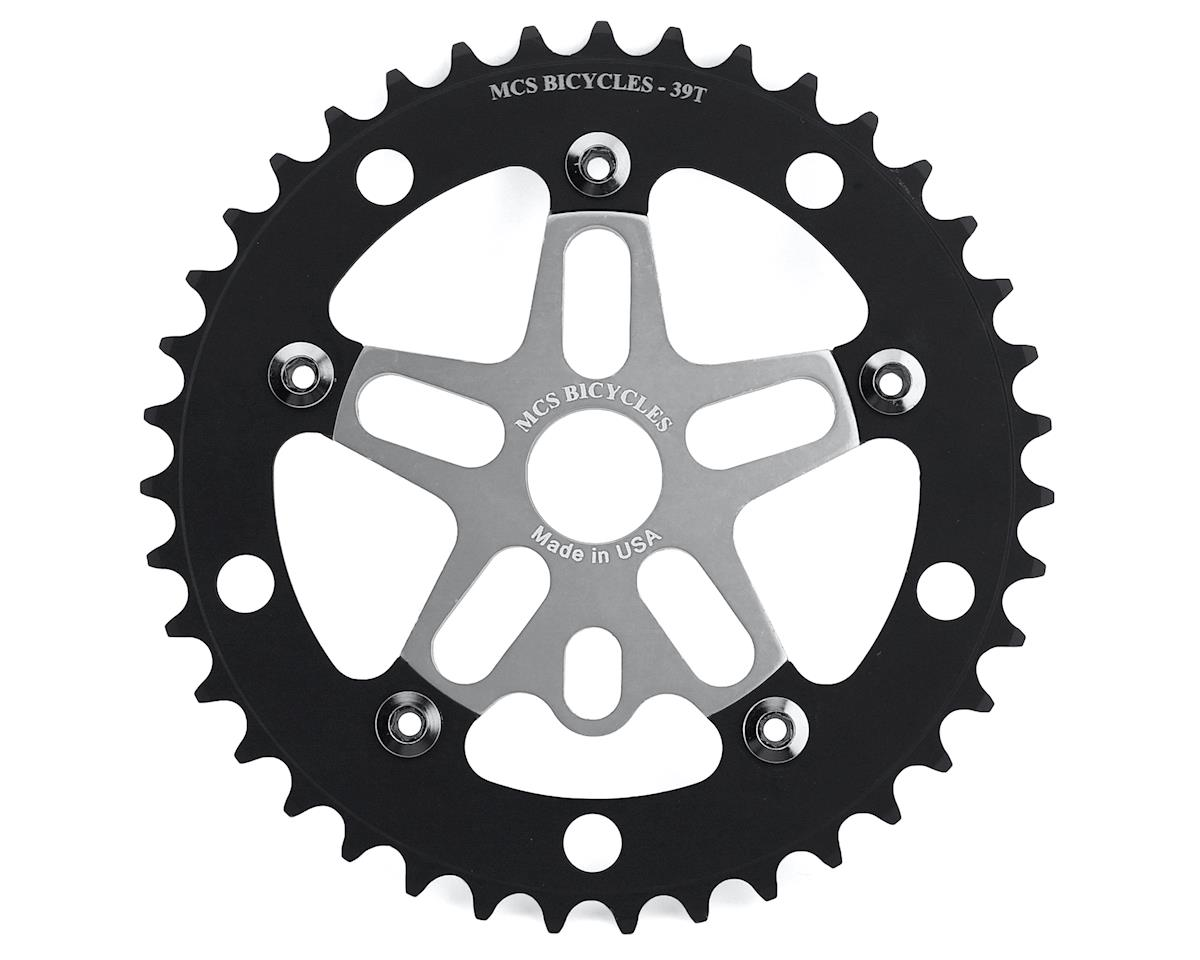 MCS Alloy Spider & Chainring Combo (39T) (Silver/Black)