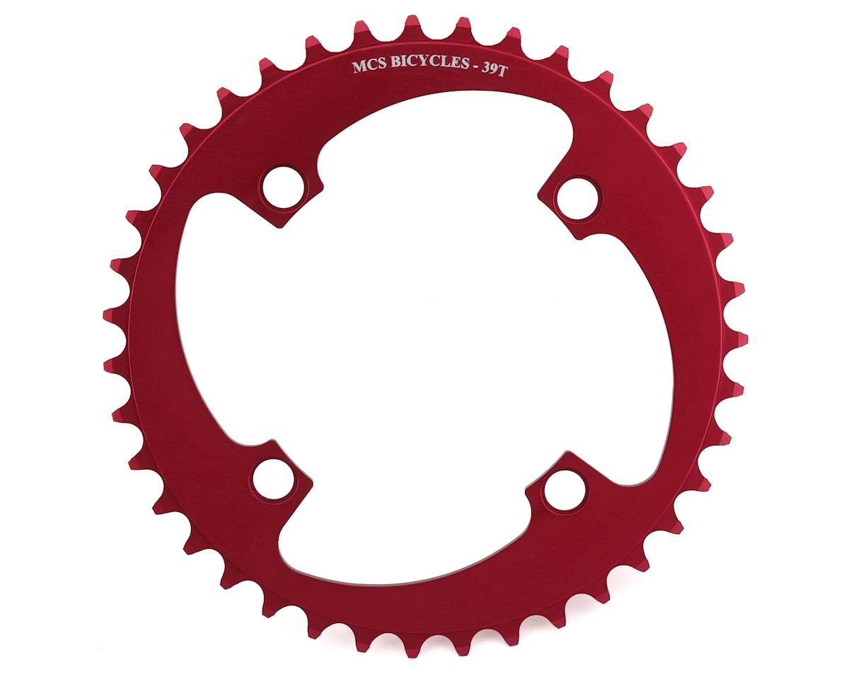 Image 1 for MCS 4-Bolt Chainring (Red) (39T)