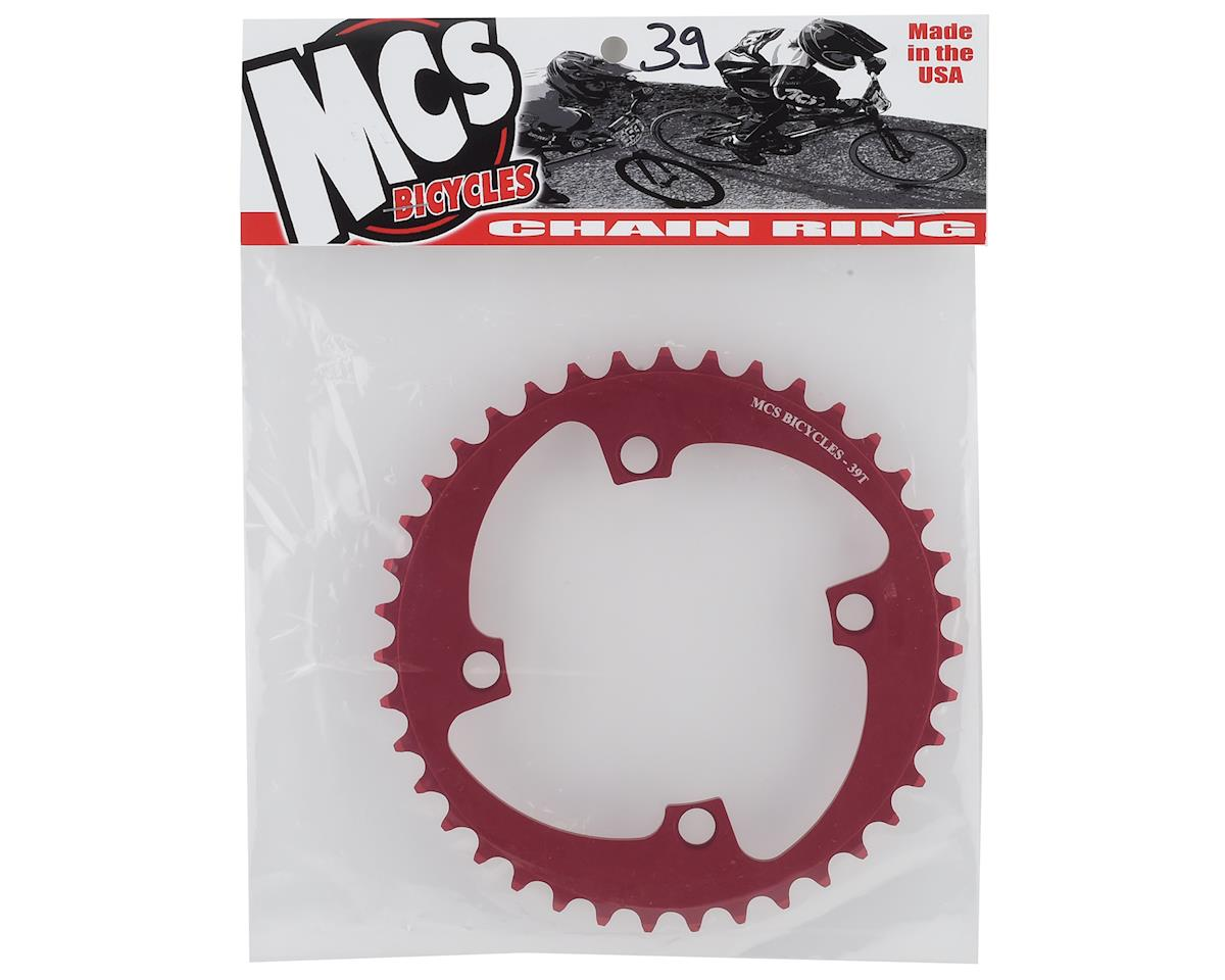 Image 2 for MCS 4-Bolt Chainring (Red) (39T)