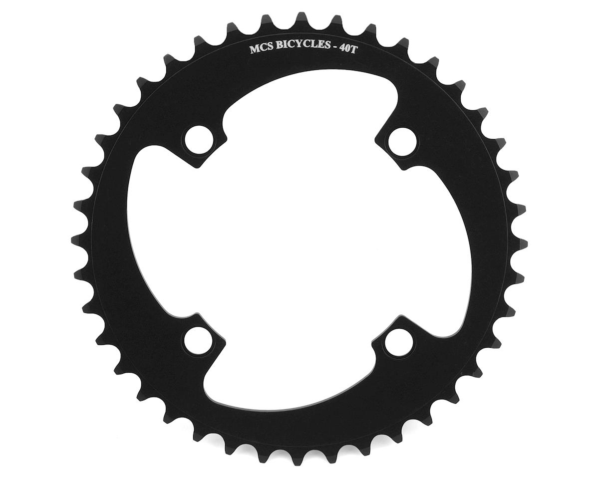 Image 1 for MCS 4-Bolt Chainring (Black) (40T)